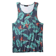 Summer Mens Beach Blue Gym Vest Tops Custom Running Wrestling Singlets