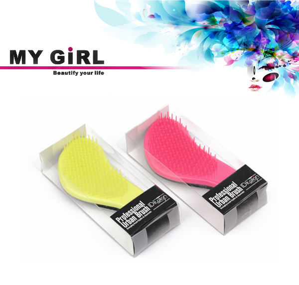 MY GIRL soft touch rubber finish Custom logo hair brush flask weave brush