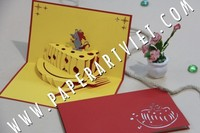 3D Pop Up Greeting Card Cheese