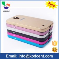 Free sample fancy cell phone cover case for samsung galaxy s4 i9500 with aluminium metal bumper frame