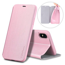 High Quality PU ultra thin luxury pink privacy screen for iphone x case