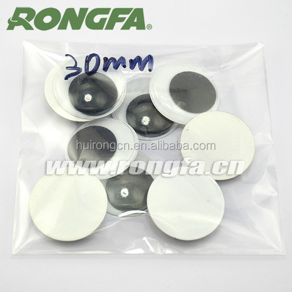30mm black / white plastic moving doll eyes for DIY accessories