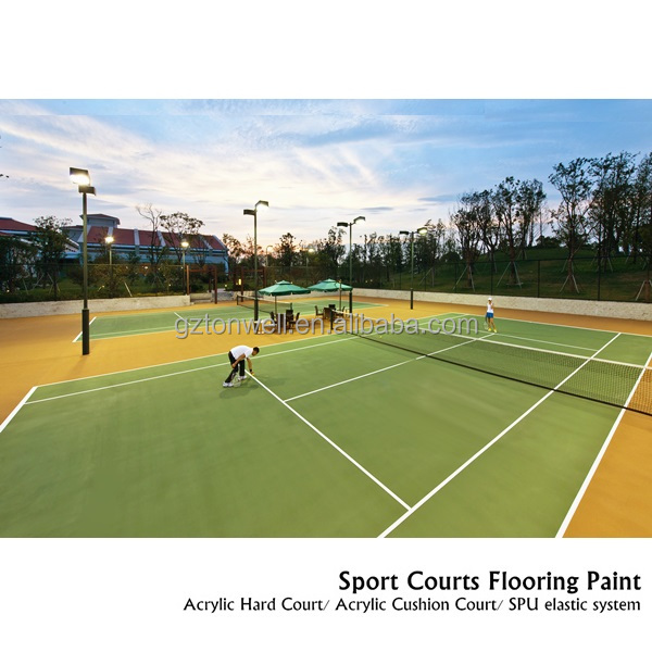 Indoor and outdoor Acrylic tennis Hard court sport floor coating
