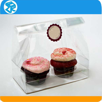 Custom Fancy Clear Hinged plastic decorative cake boxes
