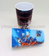 Plastic 3D Lenticular Carton Drinking Kids Cup