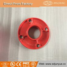 Custom product industry grooved fitting black floor flange