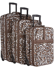 3 pieces Animal Print eva luggage, nylon luggage