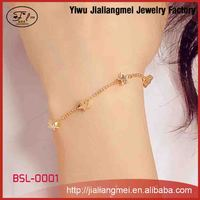 2015 New arrival bracelet fashion design gold hand chain
