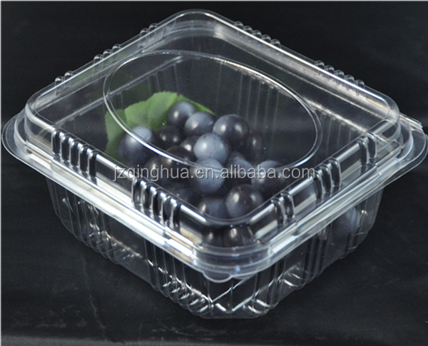 Clear disposable packaging PET plastic food fruit tray