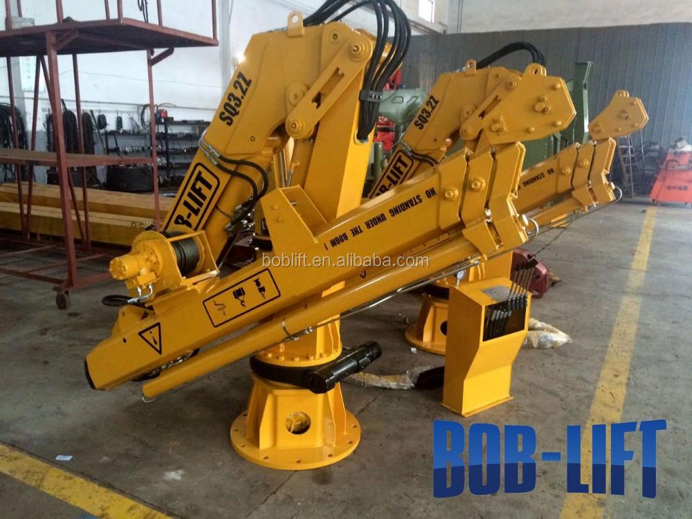 Marine lifting electric hydraulic ship crane