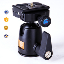 10KG Load Q01 360 Degree Fluid Rotation Tripod Head Ballhead with Quick Release Plate For DSLR Digital Video Camera