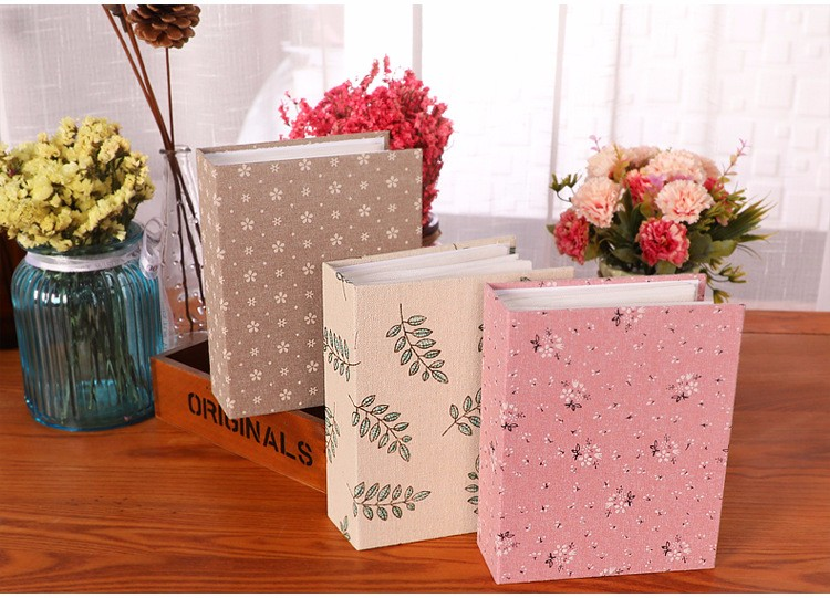 Elegant Fabric Covered Anniversary Photo Album With 200 Piece 4X6 Photo Plastic Sleeves