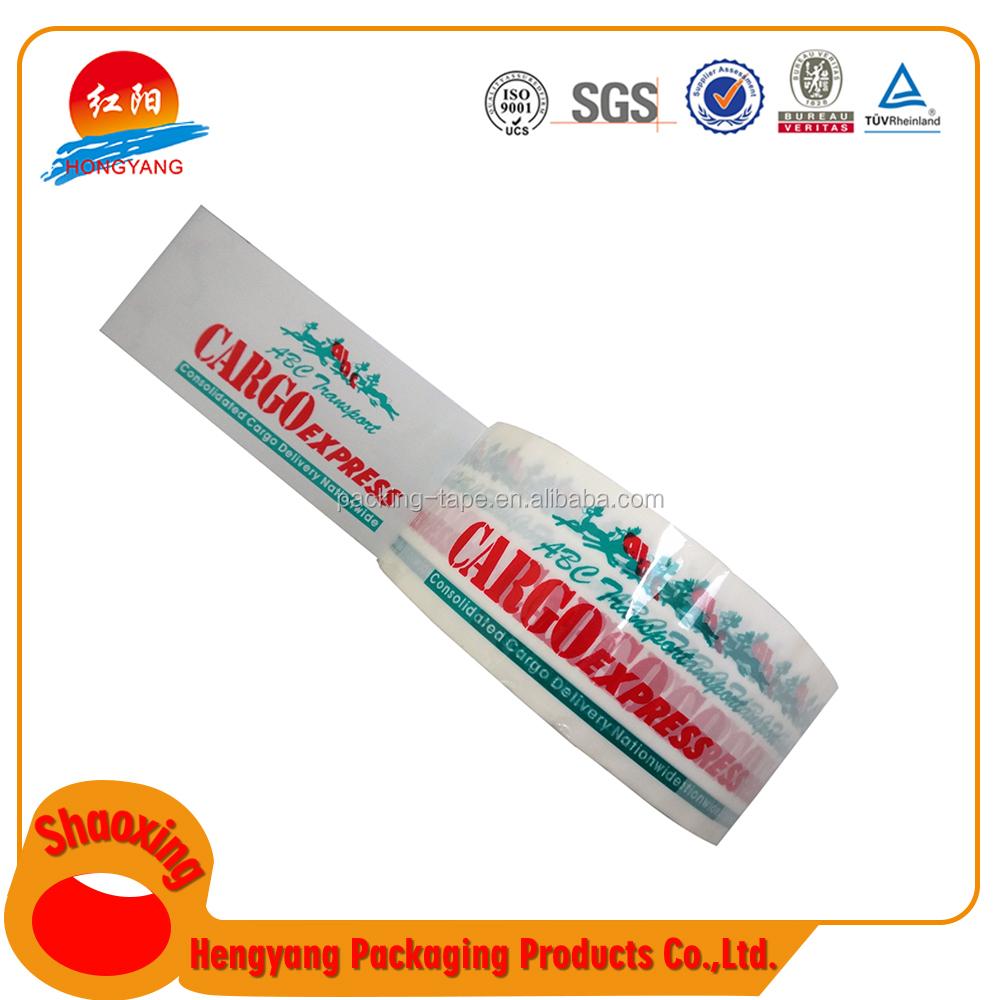 Super Grade Machine Printing Packaged Tape Cheap Logo Packaging Solvent Acrylic Adhesive Tape
