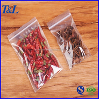 Food grade LDPE household and kitchen packaging ziplock plastic bags for spices