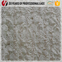 White 100% Cotton Soft Guipure Embroidery Lace Fabric