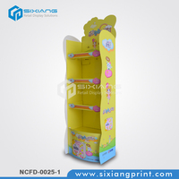 Baby Products Cardboard Floor Display Rack For Pampers