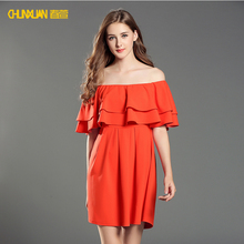 2018 newest women casual red sexy prom dress for party wear