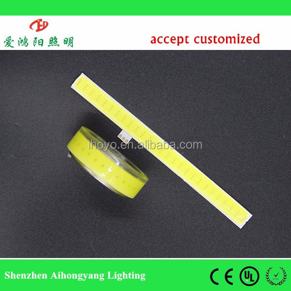 IHY N179 customized cob led strip 1w/3w,flexible cob led drl