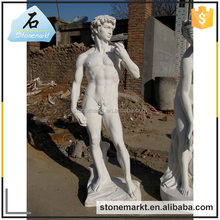 Garden life size famous stone David marble outdoor sculpture