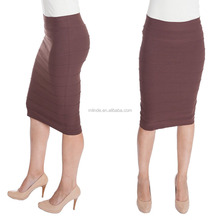 OEM Stretchy Pencil Skirt for Elegant Women Opaque Lightweight Slimfit Bandage style Pencil Tight High-waisted Skirts Wholesale