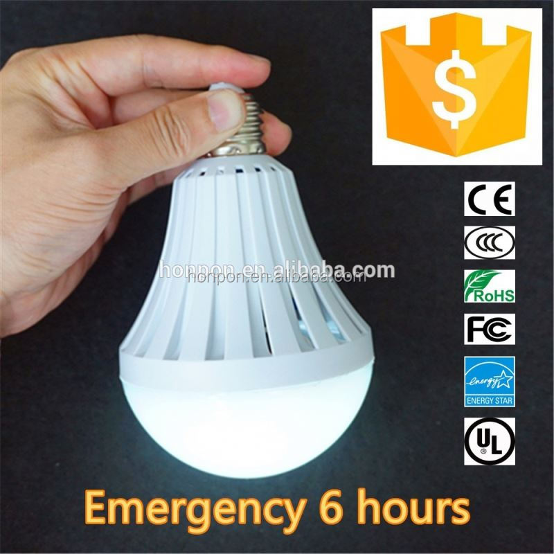 CE ROHS Intelligent LED Bulb 5W 7W 9W 12W 15W LED Emergency Light Rechargeable LED Bulb Lamp E27 for Home Lights