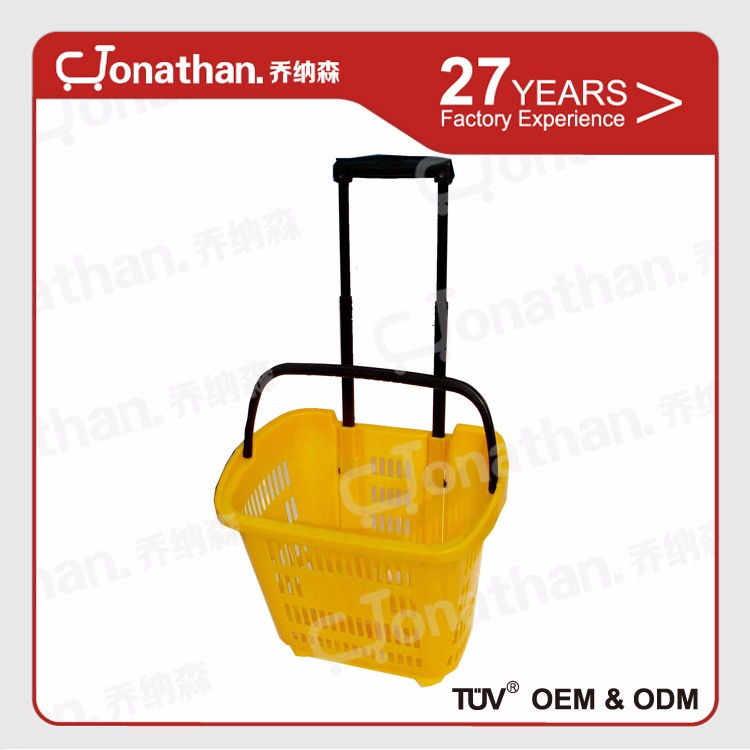 SJB-YM-1 durable material hand carry plastic shopping basket