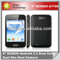 4inch Android 2.3 SC6820 Mobile phone Feiteng A7100