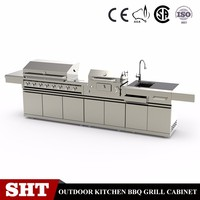 Commercial l shaped modular kitchen cabinet set designs with price
