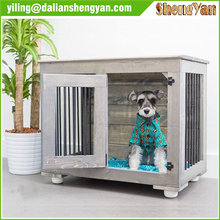Indoor end table dog crate