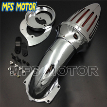 Motorcycle Air Cleaner kits intake filter for Yamaha Vstar V-Star 650 all year 1986-2012 CHROME Silver Motorcycle Accessories