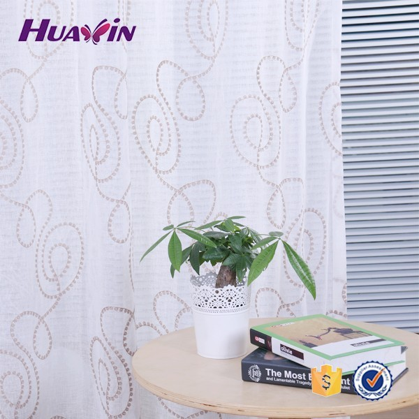 2015 High quality wholesale fashion Polyester White Striped Voile Curtain,simple curtain design