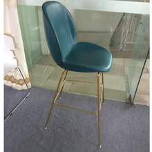 replica high bar stool with gold steel base