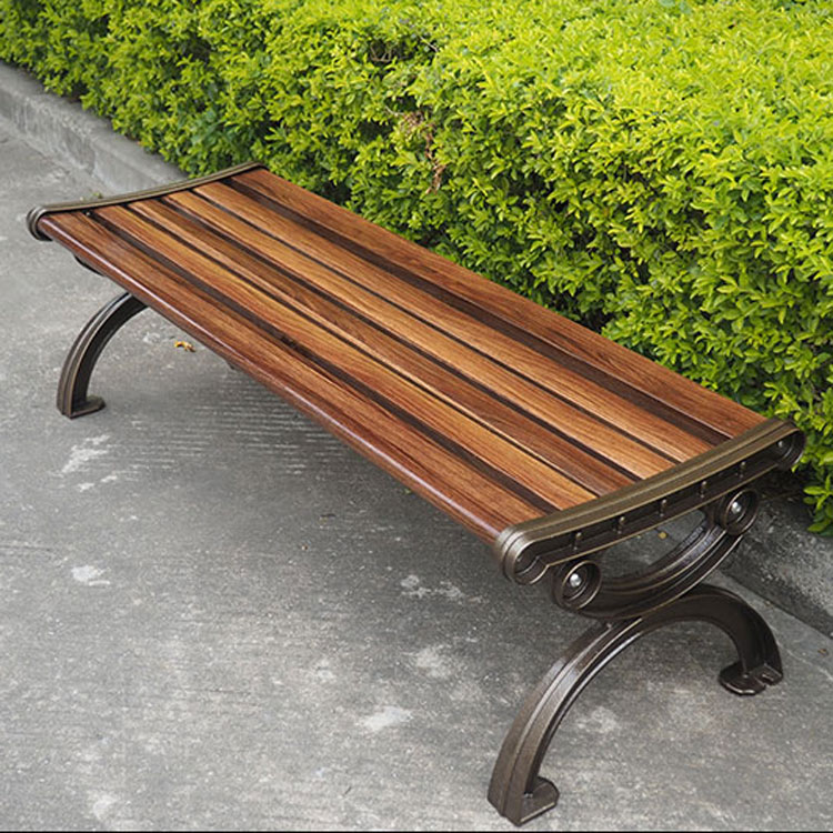 Low Price Outdoor Waterproof Carbon Fiber Public Long Chair Cast Iron Wooden Garden Bench Ends Wood Slats For Bench