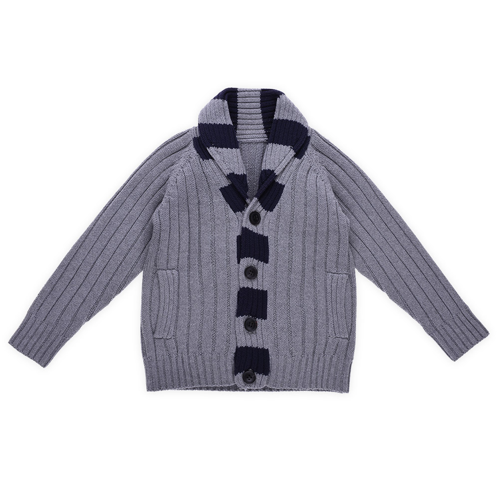 Hot Sale Fashion Shawl Collar Stock Sweater Cardigans For Boys