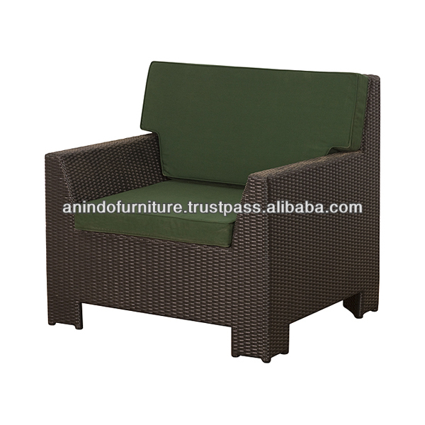 New Rattan Sofa with Upholstery