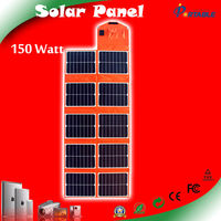 PET solar panel sunpower silicon cells 150W 18V charging for laptop