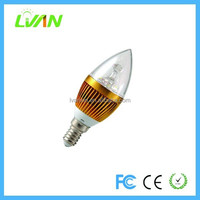 OEM ODM Factory 3 Years Warranty 3w E27 E14 Led Candle Light