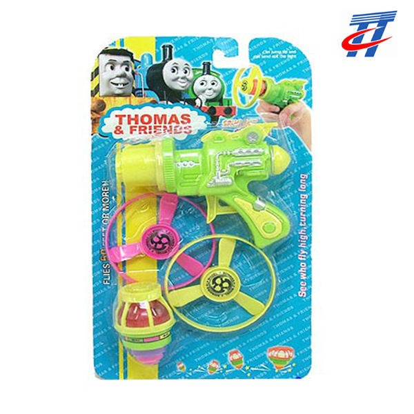 Plastic spinning top toys fashion spinning top gun toys