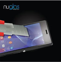 Nuglas 9h explosion-proof tempered glass screen protector for Sony Xperia Z1 Compact with OEM package