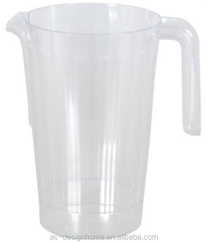 CLEAR 1.5L ROUND PS PLASTIC WATER PITCHER