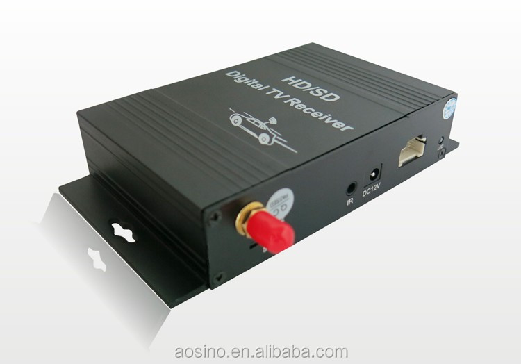High quality mobile car digital tv tuner terrestrial receiver box car isdb-t brazil with 4 video output
