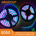 12V Digital 5050 smd RGB led strip,ws2812/ 2811/ 2812b 60 leds/m magic dream color led strip