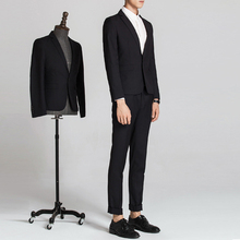 Korean style notch lapel mens slim fit mens casual suits