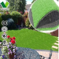 Anti-UV Natural Artificial Turf Used For Garden