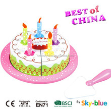 Hot selling wooden cake toy which best toy from sky-blue