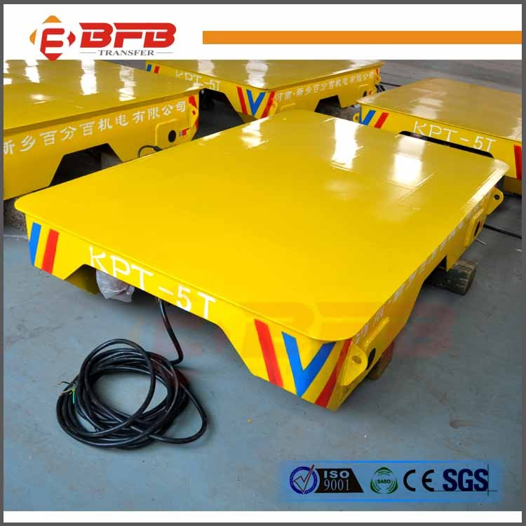 AC Motor Controlled Mobile Cable Powered Rail Transport Vehicle