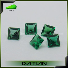 wholesale in china emerald stone customized cut synthetic colombian emeralds for sale