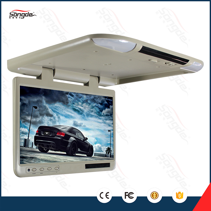 custom design bus tv tft roof mount lcd 25 inch flip down. Black Bedroom Furniture Sets. Home Design Ideas