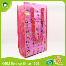 Custom shopping wheels bag PP woven laminated supermarket foldable trolley bag