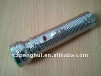 2D size batteries led metal flashlight chrome flashlight